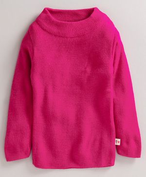 Yellow Apple Full Sleeves Winter Wear Tee - Fuchsia Pink