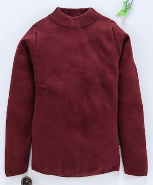 Yellow Apple Full Sleeves Winter Wear Tee - Maroon