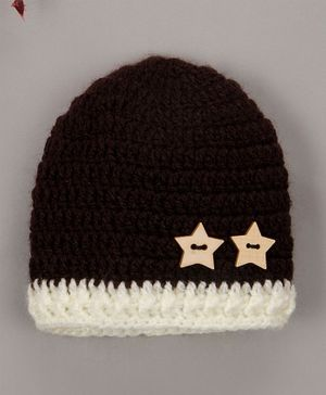 Buttercup From Knitting Nani Star Applique Cap - Brown
