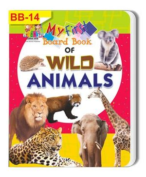 Wild Animals Themed Board Book - English