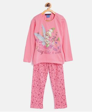 Nins Moda Floral Print Night Suit - Pink
