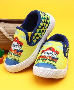 Paw Patrol Slip On Style Canvas Shoes - Yellow