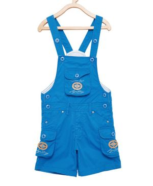 FirstClap Cotton Knee Length Dungaree - Blue
