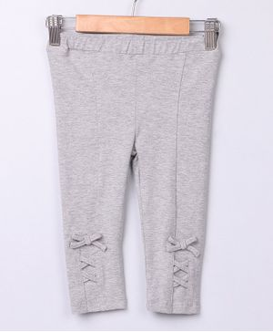 Beebay Full Length Interlaced Leggings - Grey
