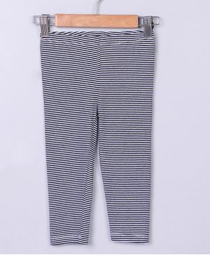 Beebay Striped Full Length Leggings - Navy
