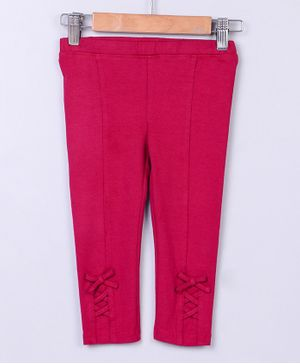 Beebay Criss Cross Design Full Length Leggings - Pink