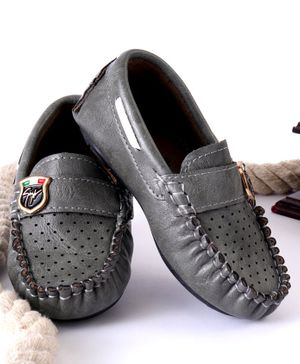Cute Walk by Babyhug Loafers - Silver