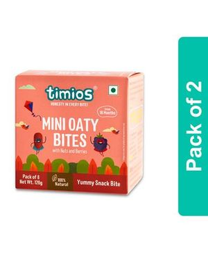 Timios Nuts & Berries Mini Oaty Bites Pack Of 2 - 120 gm Each