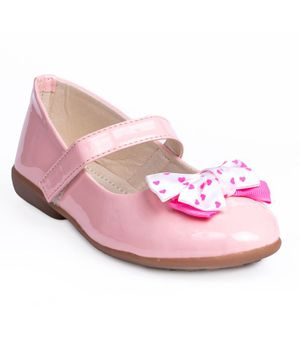 Little Soles Bow Applique Mary Jane - Pink