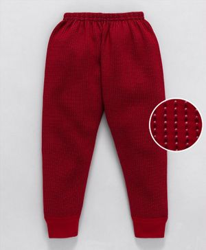 Bodycare Full Length Thermal Bottoms - Red