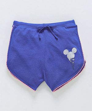 Bodycare Shorts Mickey Mouse Print - Blue