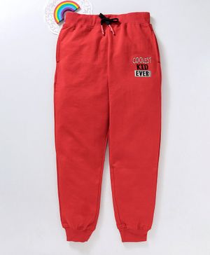 Bonkerz Cooloest Kid Ever Design Full Length Lounge Pant - Red