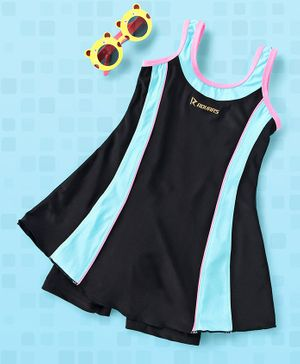 Rovars Sleeveless 2 Piece Swimsuit - Black Blue