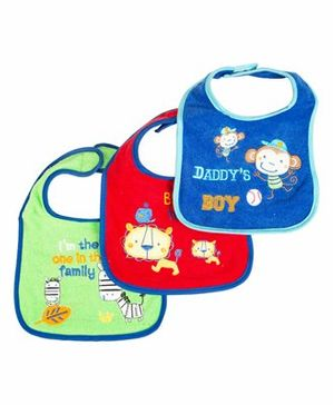 Mee Mee Absorbent Weaning Bibs Set of 3 - Multicolour