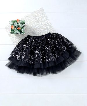 Mark & Mia Sequin Party Skirt Bow Applique - Black