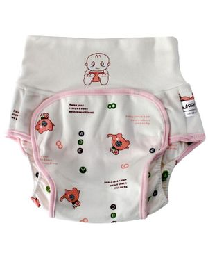 Kassy Pop Baby Diaper Training Pants White Pink - Large