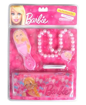 Barbie My Fab Beauty Set Hair Accessories And Necklace Pink - Pack of 5