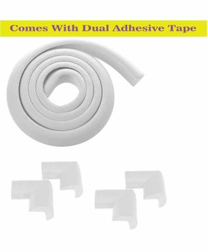 Syga Baby Safety 4 Corner Guard & 1 Edge Guard With Strong Tape - White
