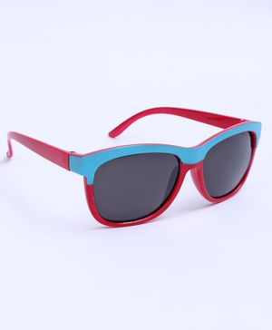 Babyhug Sunglasses With Floral Design - Red Black