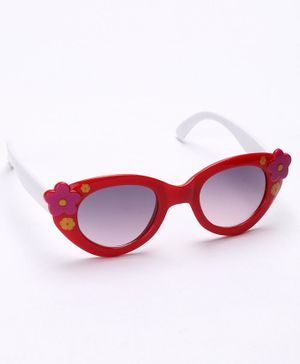 Babyhug Sunglasses Flower Design - Red & White