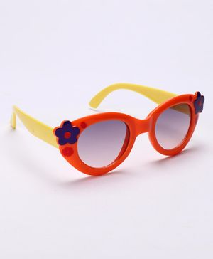 Babyhug Sunglasses Flower Design - Orange & Yellow