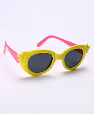 Babyhug Kids Sunglasses Floral Design - Yellow Pink