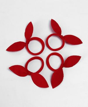 Babyhug Hair Rubber Band Set of 4 - Red