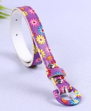 Babyhug Floral Printed Belt - Purple