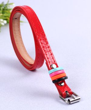 Babyhug Belt With Fashion Rings - Red