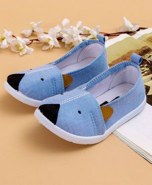 Cute Walk by Babyhug Canvas Casual Shoes Animal Design - Sky Blue