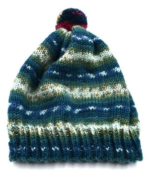 Magic Needles Contrast Shaded Design Pattern Cap - Blue