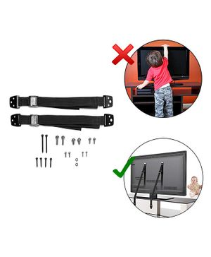 Safe-O-Kid Adjustable Safety Straps Pack of 2 - Black