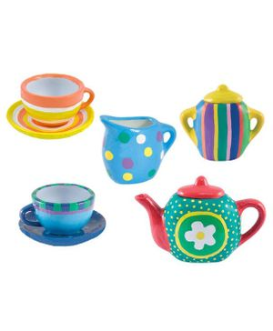 Webby DIY Kitchen Ceramic Tea Set -  Pack of 15