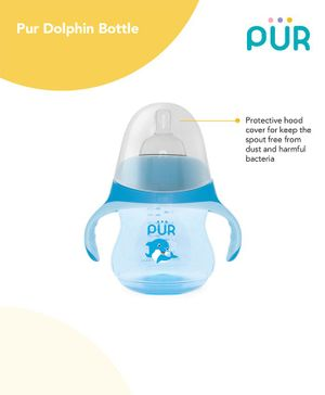 Pur Dolphin Feeding Bottle Blue - 230 ml