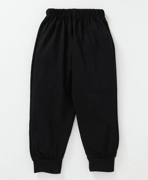 Fido Full Length Solid Colour Lounge Pant - Black