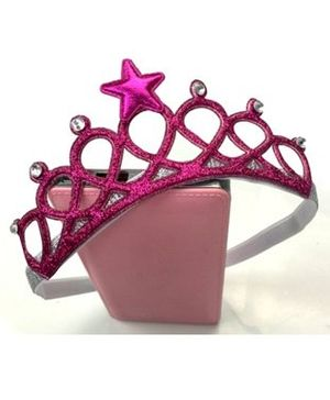 Ziory Tiara Shaped Headband - Pink