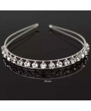 Ziory Studded Hair Band - Silver
