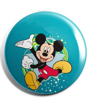 Funcart Mickey Mouse Plastic Button Pin Badge - Multicolor
