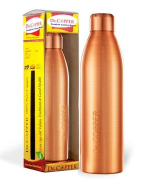 Dr Copper Water Bottle Metallic Gold - 1000 ml