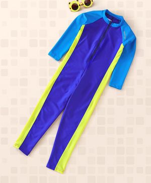 Lobster Full Sleeves Swimsuit - Blue Yellow