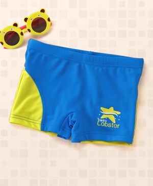 Lobster Swimming Trunks - Blue Yellow