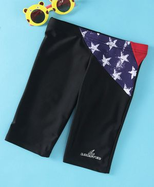 Lobster Knee Length Swimming Trunks - Black
