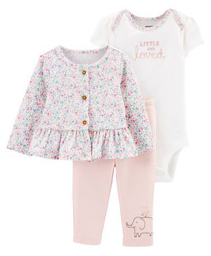 Carter's 3-Piece Little Cardigan Set - Light Pink