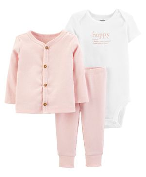 Carter's 3-Piece Little Cardigan Set - Pink