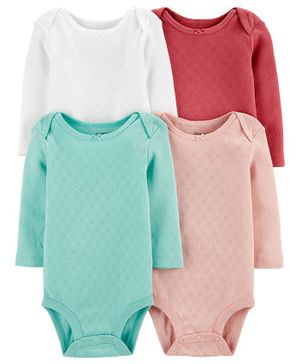 Carter's 4-Pack Heart Original Bodysuits - Multicolor
