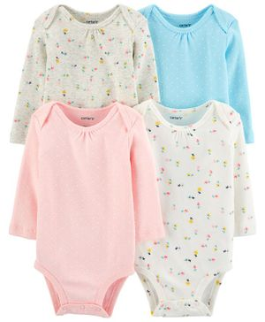 Carter's 4-Pack Floral Original Bodysuits - Multicolour