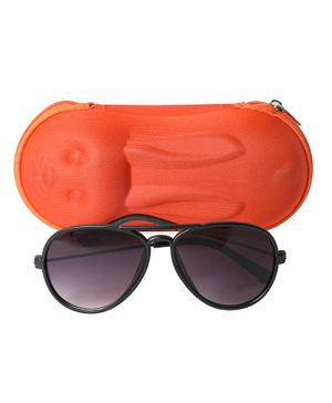 Spiky Classic Sunglasses With Case - Black & Purple