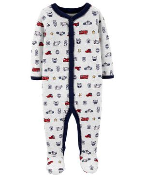 Carter's Hero Snap-Up Cotton Sleep & Play - White