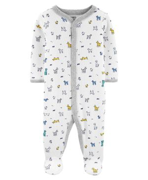 Carter's F19 INFANT SLEEPSUIT White 6-9M