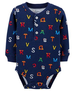 Carter's Alphabet Collectible Bodysuit - Navy Blue